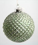 grün/Glitzer Weihnachts-Glaskugel