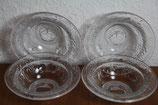 4er Set kleine Glasschälchen mit Obst Apfelmotiv