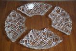4er Set Dessertschälchen Eisschälchen viertel-rund Kristallglas