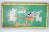 Alte Blechdose Werbedose White Rabbit Rolls China Shanghai Asien Hasen Vintage