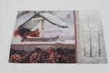 Platzset Eichhörnchen im Winter kleine Mitteldecke Home Creation