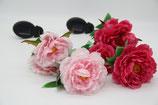 Solar Pfingstrosen 3 Blüten 75cm hoch pink rot rosa Stecker