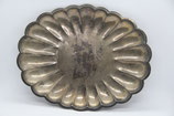 alte Servierplatte Anrichteplatte oval versilbert vintage