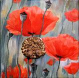 Von der Blüte zur Kapsel, Öl auf Leinwand, 30x30cm