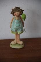 Dekofigur Mädchen Kind mit Luftballon