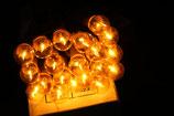 Lichterkette 20 kugelförmige kleine gelbe Lichter Weihnachten OVP