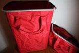 Aufstellbare Stoffordnungsboxen rot Einkaufstaschen Boxen