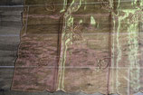Sonderpreis: transparente Tischdecke Blätter braun orange glänzend 110x110cm