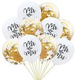 Mr.& Mrs Latexballon Konfetti Luftballons
