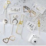 Photo Booth Hochzeit, gold