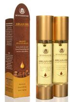 Arganöl für Gesicht und Körper;kaltgepresst 15 ml ; Airless-Flakon hochwertig verpackt vollständig entleerbar wiederbefüllbarProduktname
