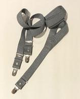 Bretelles fines  gris pailleté argent