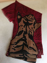 Echarpe laine tigre