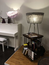 Lampe abat-jour en lin gris, Marie-Laure Tognetti