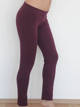 Leggings coton bio bordeaux, Albero Leela Cotton
