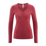 T-shirt manches longues laine et soie, Living Crafts