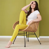 Leggings fin Jaune coton bio, Living Crafts