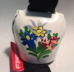 CE13_SC, weiss, handbemalt mit Alpenblumen