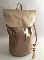 Backbag Metallic Champagne