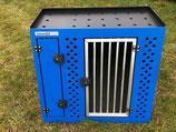 Osswaldtec Hundebox blau inkl. Staufach und Ablagefach oben