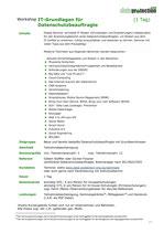 IT-Grundlagen für Datenschutzbeauftragte  (1 Tag)