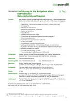 Einführung in die Aufgaben eines betrieblichen  Datenschutzbeauftragten  (1 Tag)