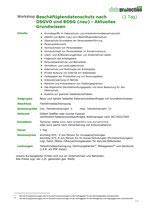 Beschäftigtendatenschutz nach DSGVO und BDSG (neu) - Aktuelles Grundwissen (1 Tag)