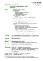 Datenschutz - Auftragsverarbeitung nach DSGVO (1 Tag)