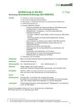 Einführung in die EU-Grundverordnung (EU-DSGVO)  (1 Tag)