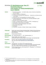IT-Notfallplanung: Das IT-Notfallhandbuch  und andere IT-Dokumentationen nach DSGVO (1 Tag)