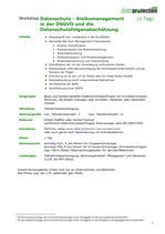 Datenschutz - Risikomanagement in der DSGVO und die Datenschutzfolgenabschätzung  (1 Tag)
