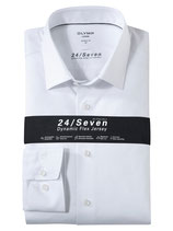 OLYMP Luxor 24/Seven  modern fit, Businesshemd, New Kent 1202/64/00 Weiß