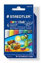 Staedtler Noris Club Kinderknete 6 Glitterfarben