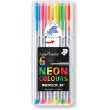 Staedtler Box Fineliner mit 6 Neon-Farben