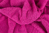 Frottee, uni, pink