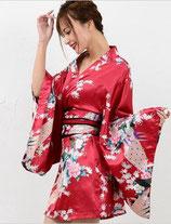 OD13/和柄サテンミニ花魁ドレス