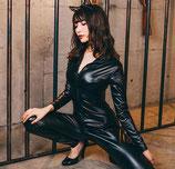 SE05/全身スーツのブラックキャット(全身スーツ・カチューシャセット)