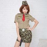 army002/GIガール(トップス・スカート・ベルト・帽子・ネクタイの5点SET)