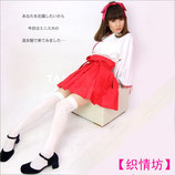 KIMONO05/ミニ丈スカート♡巫女(トップス・スカート・カチューシャの3点SET)