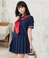 J011/初恋セーラー服  ( トップス、スカート、スカーフの3点SET )