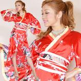 品番:OD07/孔雀和柄花魁着物ロングドレス