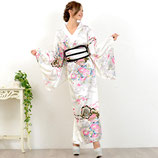 OD12/和柄サテン着物ロングドレス