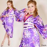 00‐13014/帯付きななめカットフリル花魁着物ロングドレス