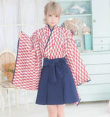 KIMONO01/ミルクカフェ(羽織、袴風スカートの2点SET)