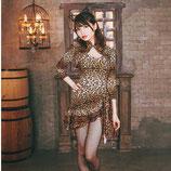 品番ANI08/女豹コスチューム(ボディ・パレオ・カチューシャ・ボレロの4点SET)