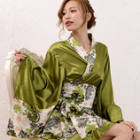 OD03/ペイズリー柄ミニ着物ドレス(ワンピース・帯の2点SET)