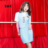 OL6/  ミストレスOL ~サックス~(シャツ、スカート、ベストの3点SET)