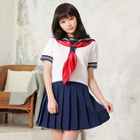 J009/純愛セーラー服(トップス・スカート・リボンの3点SET)