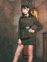 ARMY004/レトロアーミー(ジャケット・シャツ・ネクタイ・スカート・ベルトセット)