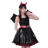 HLD014/ハロウィン魔界の天使女子 (ワンピース・カチューシャ・ベルトの3点SET)